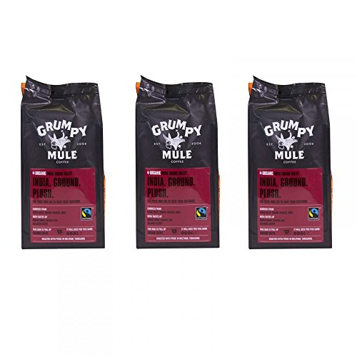 Grumpy Mule Ground Coffee -India Araku Box of 3 227g Packets 41vsXyaPxgL