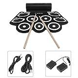 Digitale elektronische Trommel eingebaut in Lautsprecher tragbare elektronische Roll Drum Pad professionelle faltbare Praxis Instrument - schwarz