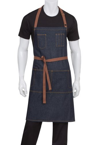 Chef Works AB035-IBL-0 Memphis Bib Apron, Indigo Blue by Chef Works -