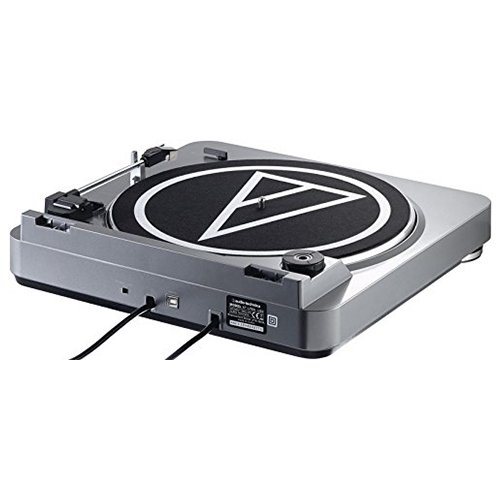 Audio-Technica AT-LP60USB - Tocadiscos de correa con conexión USB, plateado