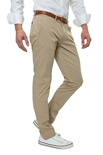 Selected Herren Chinos Chinohose Business Sommer (W36 L30, White Pepper)