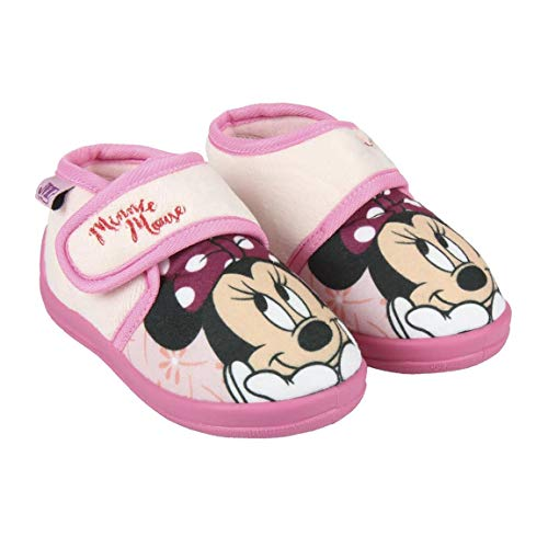 Cerdá Zapatillas De Casa Media Bota Minnie, Niñas, (Rosa C07), 23 EU
