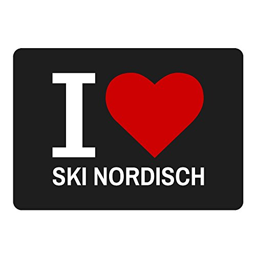 Mousepad Classic I Love Ski Nordisch schwarz -