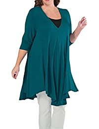 Preisvergleich für PAOLIAN Damen Langarmshirt Bluse Pullover Langarm Oberseiten Plus Größe Beiläufige Lose T-Shirt Baumwolle Tops