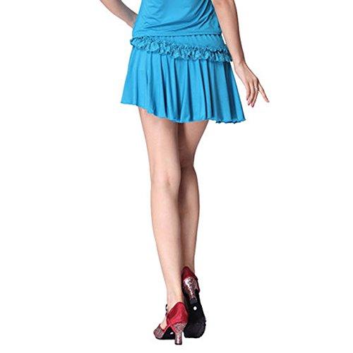 FaithYoo Damen Schößchen Kleid Violett Violett Violett - Hellblau
