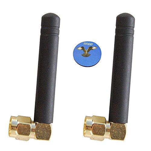 HQRP 2-Stück SMA männlich 46 MM GSM GPRS 433 MHz Antenne 2DBI für ADF7020 EVAL-ADF7020-XDBX / EVAL-ADF7020DB3 / EVAL-ADF7020-1DB4 / EVAL-ADF7020-1DBZ6 Drahtloser HF-Transceiver - Antenne Transceiver