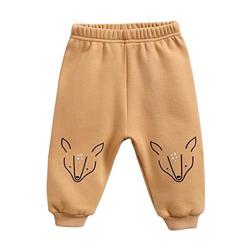 Sanlutoz Animal Un Pantalon Impression Bébé Hiver Dessin animé Un Pantalon pour Bébé Garçons Doux Coton (6-12 mois/73cm, BPW8164-DEER)