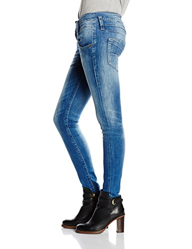 Herrlicher pitch denim jean slim pour femme en tissu powerstretch Bleu - Blau (bliss 6340)