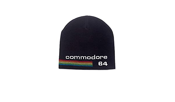 0d2412b10b2 Bioworld Commodore 64 Embroidered Logo Cuffless Black (KC622658C64) Beanie