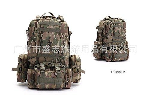 Outdoor schulter Rucksack große Kapazität multifunktionale Rucksack fans Bergsteigen Taschen, jungle Camouflage CP Camouflage