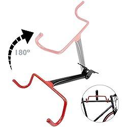 Cablematic Soporte de pared con gancho plegable para colgar bicicleta