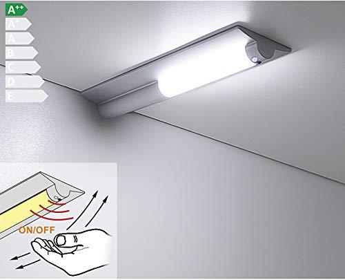 Nikka Move - Lámpara led para muebles y armarios (sensor de movimiento, 1,5 W, 120 lm, luz blanca neutra o blanca fría, para atornillar), plástico, Nikka Move - Neutralweiß 4200k 1.50watts 12.00volts