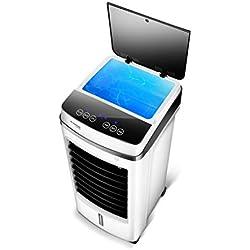 Ventilateur de climatisation à télécommande, refroidisseur d'air de réfrigérateur 2 en 1, réservoir d'eau double, poulie de ventilateur pour la climatisation domestique, petit climatiseur mobile à ref