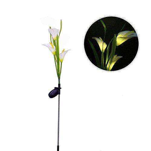 Solar Blume Lights Solar Power LED Outdoor Wasserdicht Landschaft Deko Lampe Garten Beleuchtung Calla Lily