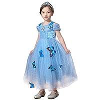 JJAIR Vestido de la Princesa niñas, Cosplay del Partido del Traje de Nieve Vestido de la Reina del Traje Cosplay de la Princesa de Vestir,130