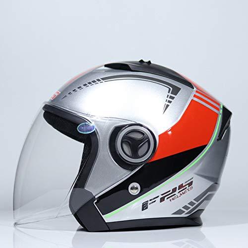 Mdsfe Casco per motociclo casco per veicoli elettrici per uomo e donna stagione estiva mezzo casco mezzo casco coperto protezione solarecasco suomy