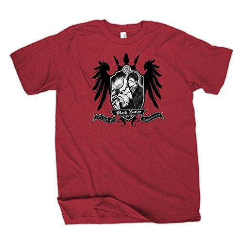 Black Butler Sebastian & Ciel Coat of Arms T-Shirt | M (Butler-shirt Herren Black Für)