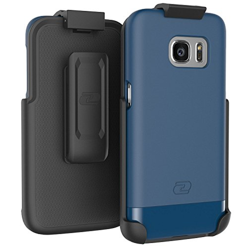 encased Samsung Galaxy S7 SlimShield Series Case with Belt Clip Holster (Deep Blue)