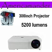los datos más brillante 5200Lumen Full HD DLP negocio Publicidad Educación ARBUYSHOP blancas muestran 300inch Proyector 3D Proyector de Beamer Projektor