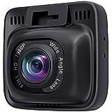 AUKEY Dash Cam Full HD 1080P 170°Gran Ángulo Cámara para Coche, Detección de Movimiento, WDR Visión Nocturna, G-Sensor, Loop de Grabación, Cargador de Coche con Doble Puerto (DR01)