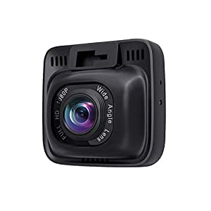 "AUKEY Dash Cam 1080P Ultra Compact Car Camera 170° Wide Angle Lens, WDR Night Vision, Motion Detection, G-Sensor and Loop Recording, 2"" LCD"