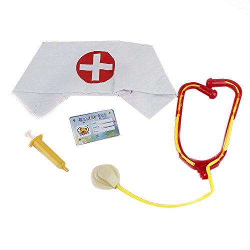 Stage Scene Requisiten Set Krankenschwester Cap mit Kunststoff Stethoskop Spritzen Etc (Halloween Requisiten Buch)