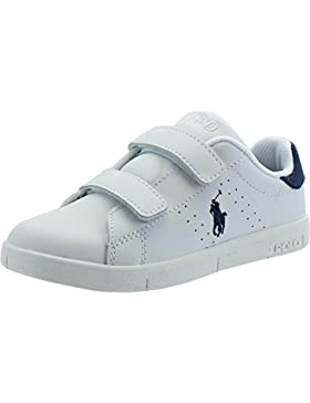 Polo Ralph Lauren Bilton Ez C White Leather Junior Trainers