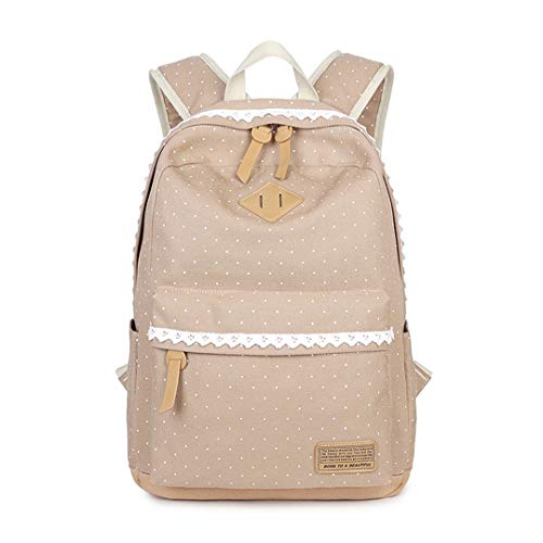 Vintage Canvas Damen Cute Dot Print Notebook Rucksack (Dot Rucksack Neue Mini)