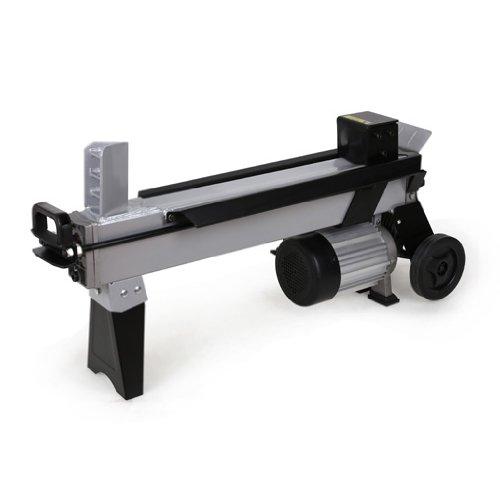 EBERTH 7T Powerful Log Splitter (2200 Watt Electric Motor, 520 mm Log Length, Ø 250 mm, Recumbent, Transport Wheels)