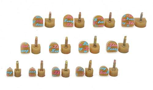 Medigy 13 coppia tacco riparazione suggerimenti rubinetti tacco alto tappi scarpe sostituzione tasselli 13 tipi di dimensioni, khaki