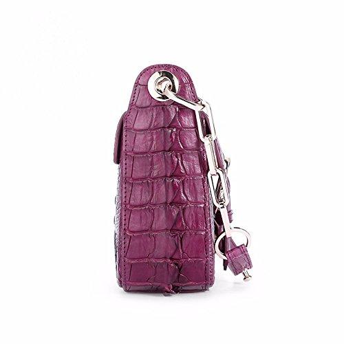 lpkone-Motif Crocodile sac Messenger sac à main sac sac fermoir magnétique chaîne petit paquet Purple