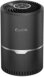 ERGO LIFE Air Purifier with HEPA & Carbon Filters, 3 Speeds Air Cleaner for Remove 99.97% Dust, Pollen, Sm