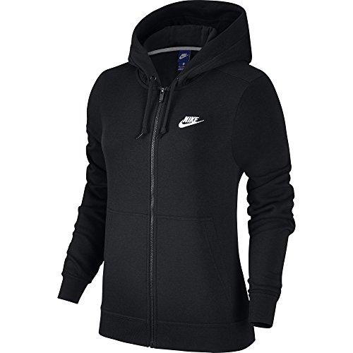 Nike 853930-010 Sweat-Shirt à Capuche Femme, Noir/Noir/Noir/Blanc, FR : L (Taille Fabricant : L)