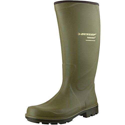 Dunlop Mens Puro Terroir Waterproof Insulated Welly Wellington Boots Verde - verde