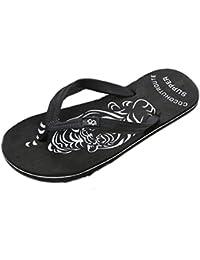 Chanclas Hombres Xinantime Zapatos de Hombre Sandalias de Verano Cómodas Chanclas de Masaje Zapatilla Masculina Chanclas Interiores y…