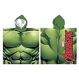 Marvel Avengers - Poncho con Cappuccio Accappatoio Asciugamano Mare Piscina - Bambino - Hulk - Prodotto Originale 820-792