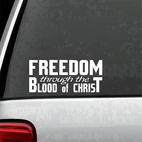 adesivo murale camera da letto Libertà attraverso il sangue di Cristo Auto religiosa camion adesivo decalcomania Accessori auto Moto casco Car Styling