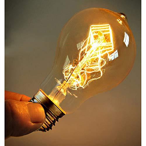 ANGJP 3 PACK A19 Glühlampen Vintage Edison Glühbirnen E27 Antiklicht Klarglas 40 Watt 120 V / 220 V Edison-lampe Lampe Dekoration -