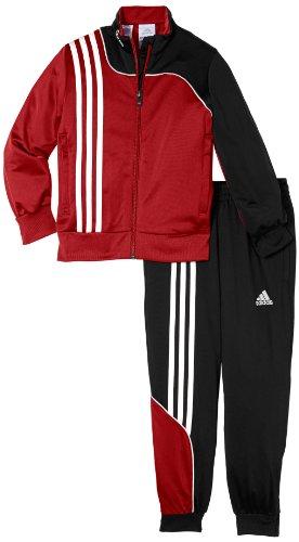 adidas Kinder Trainingsanzug Sereno 11, Univerred/Black, 116, V38043