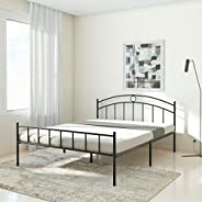 Amazon Brand - Solimo Senna Metal Queen Bed (Black)