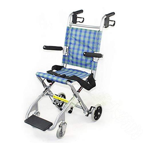 Silla de ruedas plegable ligera, silla de ruedas para niños discapacitados ancianos de viaje silla de ruedas conducción médica