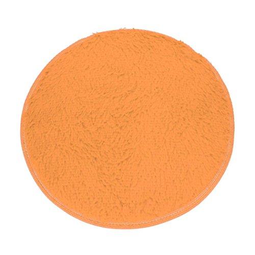 Xshuai Hochwertige 40*28cm weiche Bad Schlafzimmer Fußboden Dusche runde Matte Teppich rutschfeste Mehrfarbig (Khaki) (Lila Spray-flasche)