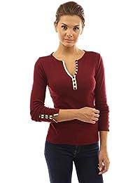Amazon.fr   bordeaux - Chemisiers et blouses   T-shirts, tops et ... c62c7924009a