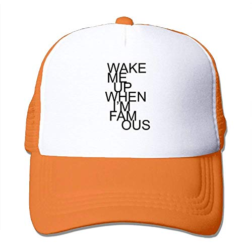 Wake Me Up When I'm Famous Big Foam Snapback Hats Mesh Back Adjustable Cap