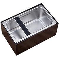MagiDeal Edelstahl Abklopfbehälter, Abschlagbehälter, Abklopfbehälter, Tresterbehälter, Kaffeesatzbehälter, Knock Box für Espresso Kaffeesatz