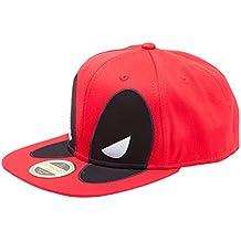 Deadpool Big Face Snapback Cap Negro/Rojo