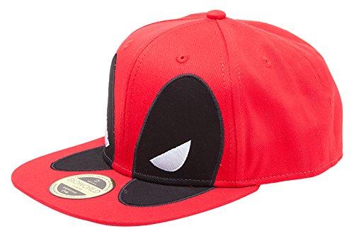 Meroncourt Marvel Comics Deadpool Big Face Snapback Baseball Cap 865eb6b98da