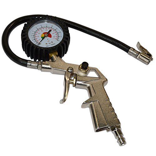 Preisvergleich Produktbild Systafex Profi Druckluft Reifenfüllpistole Luftdruckprüfer 0-12 BAR Reifendruckmesser Reifenfüller