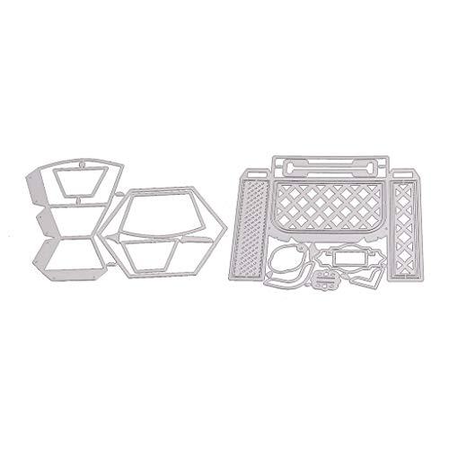 Xurgm - 2 fustelle per scrapbooking, in metallo, per decorazioni natalizie