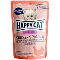 Happy Cat Pouches - All Meat - 24 x 85 gr. = 1 VE Pouch Junior Huhn & Seelachs